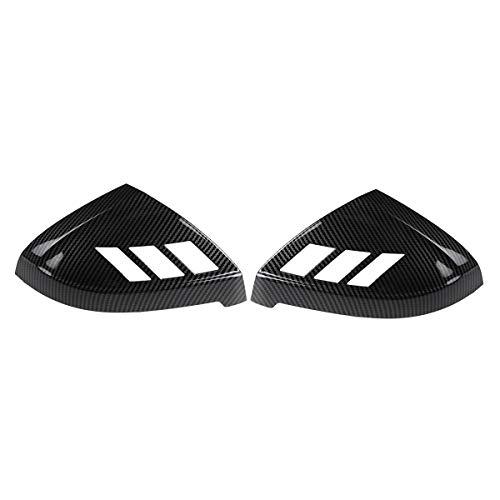 DSEB Tapa de Espejo retrovisor, para Audi A4 S4 RS4 A5 S5 RS5 Todos los Modelos 2017-2020 2pcs Cubierta de la Puerta del Lado del Coche Agregar en la página Mrror Cubiertas Trim,Carbon Fiber Look