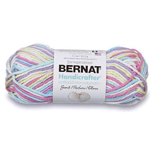 Bernat Handicrafter Cotton Scents Yarn, 1.5 oz, Gauge 4 Medium Worsted, Fleur De Lavane