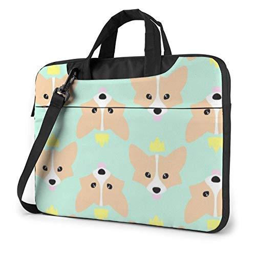 Dog Cute Corgi Laptop Tote Bag Compatible Laptop Carrying Handbag with Strap