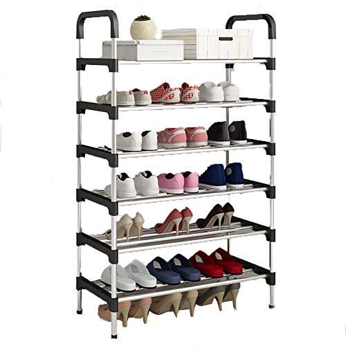 Multi-couche chaussure rack en fer forgé ensemble de crémaillère de chaussures de dortoir simple étagère de rangement de la chambre à coucher rack,60 * 30 * 110cm