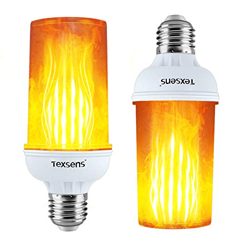 LED Flame Effect Fire Light Bulbs 4 Modes With Upside Down Effect Simulated D...