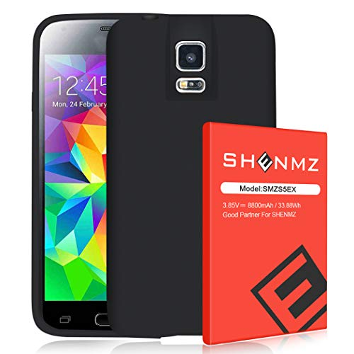 【8800mAh】 SHENMZ for Galaxy S5 Battery, Extended Battery...