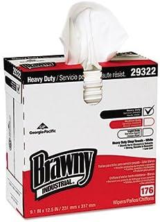 Heavyweight HEF Disposable Shop Towels, 9x12.5, White, 176/Box, 10 Box/Crtn, Sold as 1 Carton, 10 Each per Carton