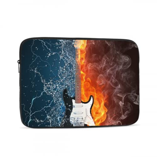 Estuche para computadora portátil Protector Guitarra eléctrica Ilustración de Agua contra Incendios...