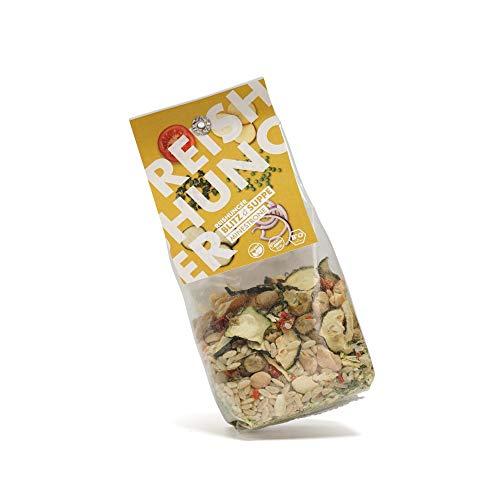 Reishunger Blitz-Suppe Minestrone (110g) Bio Fertigsuppe mit Vollkornreis und Gemüse nach norditalienischer Tradition - erhältlich als 1er bis 8er Pack