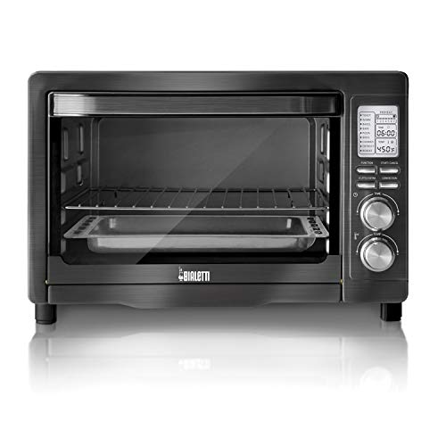 Bialetti (35047) 6-Slice Convection Toaster Oven, Black Stainless Steel