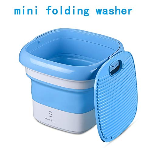 mini portable washers small Ultrasonic countertop washing machine lavadora portatil washer machine with Power cord for DelicatesApartments,Business,Camping,RV's,Dorms (blue)