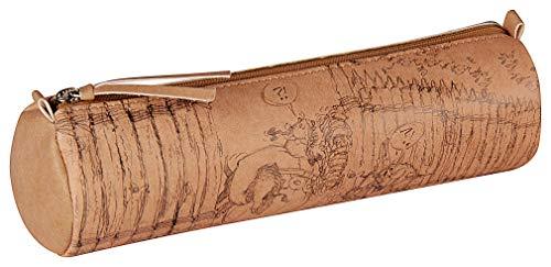 Clairefontaine 813015C Astérix Crayée - Estuche redondo de poliuretano (6 x 21 cm), color marrón