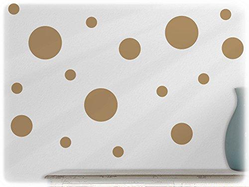 wandfabrik Polka Dots3-9cm81-hellbraun_bb wandfabrik-Wandtattoo-75 tolle dots