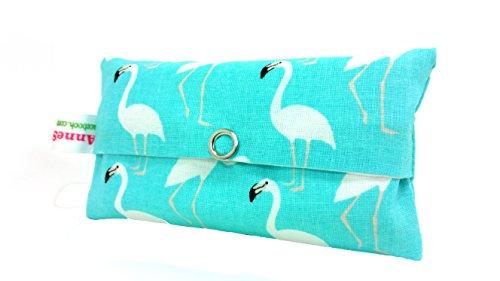 Zakdoekjes zakje turquoise flamingo design adventskalender vullen kaft cadeau cadeautje give away medewerkers Kerstmis