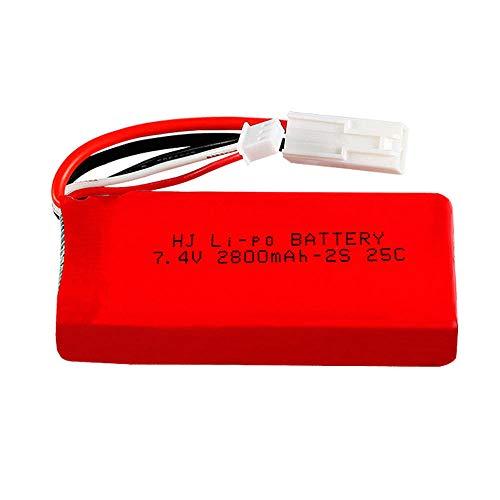 Dilezhiwanjuwu Batería Lipo de 7.4V 2S 2800mAh para FT009 RC Juguetes Repuestos para Barcos Batería lipo de Alta Capacidad 7.4V-SM