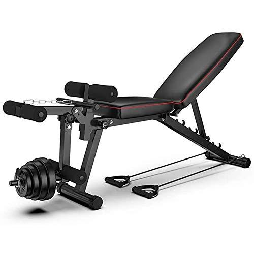 LJBOZ Banc de Musculation Multifonctions Pliable,avec Leg Extension Machine,Universel Banc à haltères Exercices abdominaux Exercices, Banc d'entraînement pour Tout Le Corps