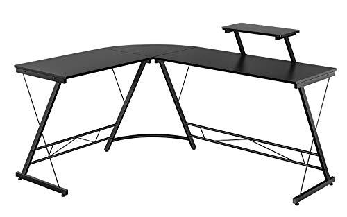 Yaheetech Eckschreibtisch Schreibtisch Computertisch Bürotisch 162,5 x 130 x 96,5 cm Schwarz