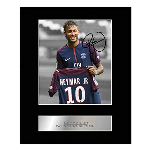 Neymar Jr Signiertes Foto, montiert, Paris Saint-Germain FC