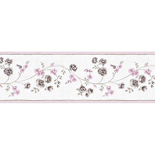 Tapetenbordüre Borte Blumen Ranken rosa Petite Fleur 285511