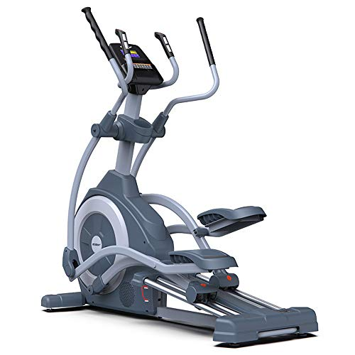 YAMMY Professionelle Mute Magnetische Steuerung Elliptical Cross-Trainer, 21 Trainingsprogramme Cardio Home Office Fitness Workout Maschine Max Benutzergewicht 150 Kg
