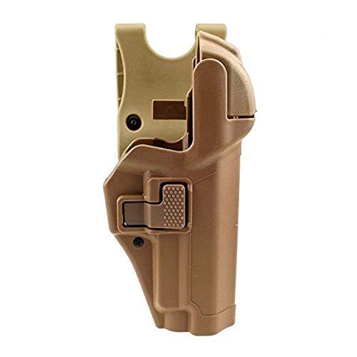 Gexgune Tactical Holster Militärische Verschleierung Stufe 3 Sperren Rechte Taille Gürtel Pistole Pistolenhalfter für Colt 1911 (Bräunen)