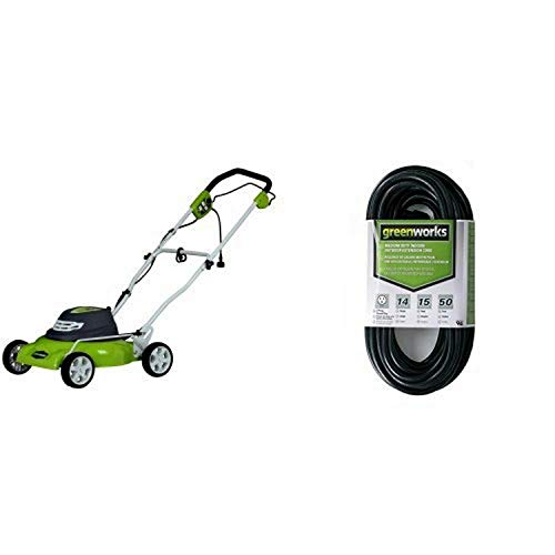 Greenworks 18-Inch 12 Amp Corded Lawn Mower 25012 with...