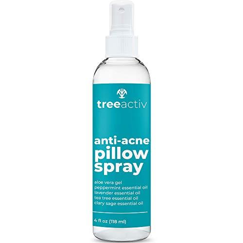 TreeActiv Anti-Acne Pillow Spray   Pimple Prevention & Freshener for Pillowcases, Bedding, Blanket, Fabric, & Linen Sheets   Aromatherapeutic Sleeping Mist with Pure Tea Tree Oil   1000+ Sprays