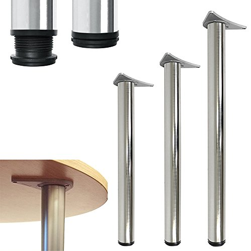 Tischbein, für Küchenarbeitsplatte, Tisch, anpassbar, 710, 820, 1100 1100 mm poliertes Chrom