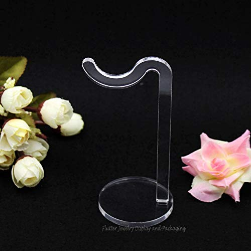 2020 YXWEI Mostrando Pulsera Brazalete de Caja de joyería del sostenedor del Soporte de exhibición del Pendiente de la Pulsera Organizador Percha Soporte de Cristal acrílico (Color : Black)