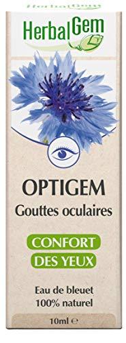 HerbalGem - Optigem - Gouttes Oculaires - Soulagement Rapide des Yeux Sensibles - 10 ml