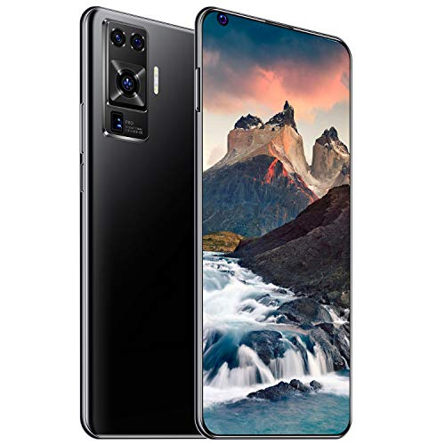 X50 Pro Unlocked 4G/5G Smartphones,6.8 inch HD Cell Phones, Android 10 Phone, Dual SIM Smartphone, Quad Rear Camera Phones, with 8800 mAh Battery (Black,8+256gb)