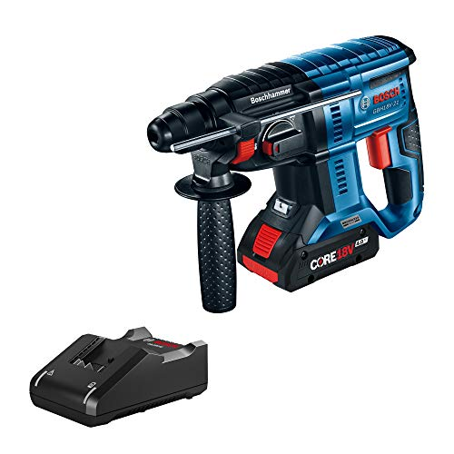 Bosch GBH18V-21K15 18V Brushless SDS-plus 3/4 In. Rotary Hammer Kit with (1) CORE18V 4.0 Ah Compact Battery