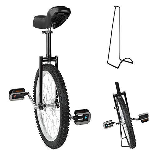 Triclicks 20'' Unicycles Monociclo Onlyone Monociclo Alto Trainer per Bambini/Adulti Monociclo Regolabile in AltezzaBici di Bicicletta Esercizio dell'equilibrio con Supporto Unicycle (Nero)