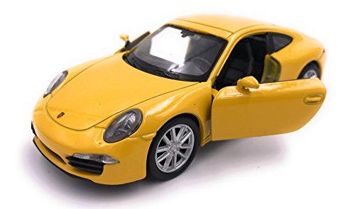 H-Customs Welly Coche Modelo 911 Carrera S Producto Licenciado 1: 34-1: 39 Amarillo