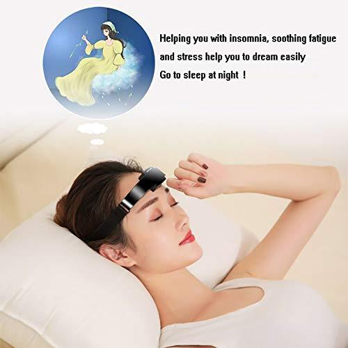 QIYE Elektrisches Hauptmassagegerät Schlafmittel Instrument, Hilft bei Migräne, Angstzuständen und Depressionen, Stress abbauen und den Schlaf fördern