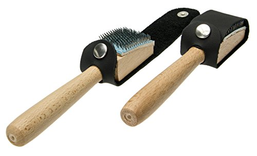 Langlauf Schuhbedarf Aufraubürste mit Schutz für Tanzschuhe mit Chromledersohle - Tanzschuhbürste - Dance Shoe Brush