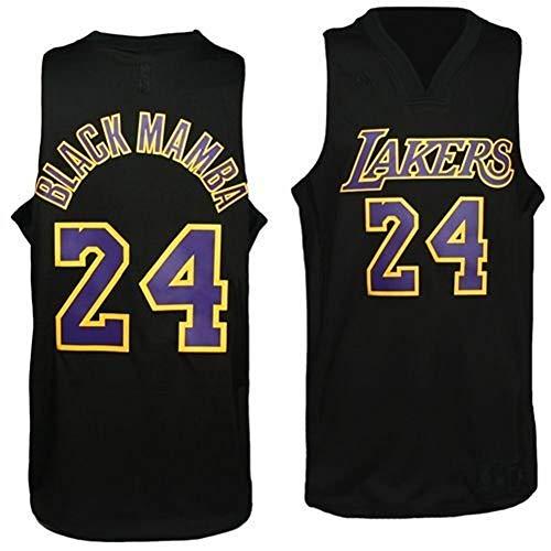 NBA Men's Los Angeles Lakers Kobe Bryant Black Swingman Jersey (Black, Medium)