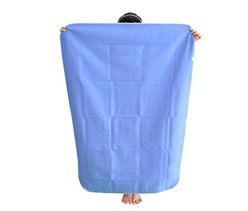 MEYLEE Lenzuolo idrorepellente super traspirante ad alta qualità e protezione per materasso antiscivolo - Lavabile - Blu (143 * 120cm)