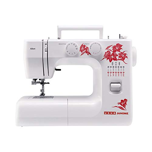 USHA JANOME Allure DLX Electric Sewing Machine -White