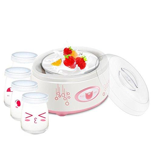 GZD Creatore di Yogurt Digitale Maker Pure Yogurt 1L Rivestimento in acciaio inox Con 4 barattoli di yogurt. | Yogurt da 24 ore - Yogurt naturale 100% naturale Controllo completamente automatico