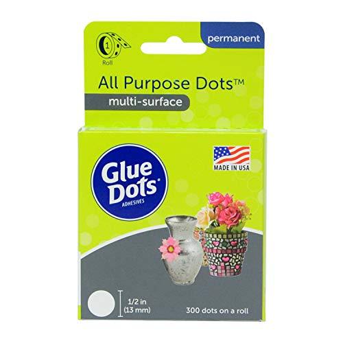 Glue Dots Rouleau de pastilles adhésives multi-usage Clair