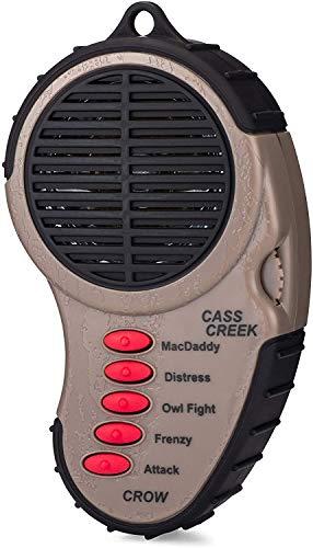 Cass Creek Ergo Crow Call, Handheld Electronic Game Call, CC065, Compact Design, 5 Calls In 1, Expert Calls for Everyone,Camo