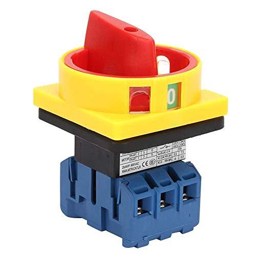 ZGQA-GQA Circuito del interruptor del interruptor de carga de 3 polos 2 posiciones Cam Switch de encendido, apagado (25A)