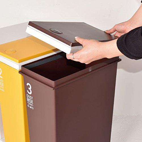アスベル『資源ゴミ横型3分別ダストボックス60Lキャスター付』