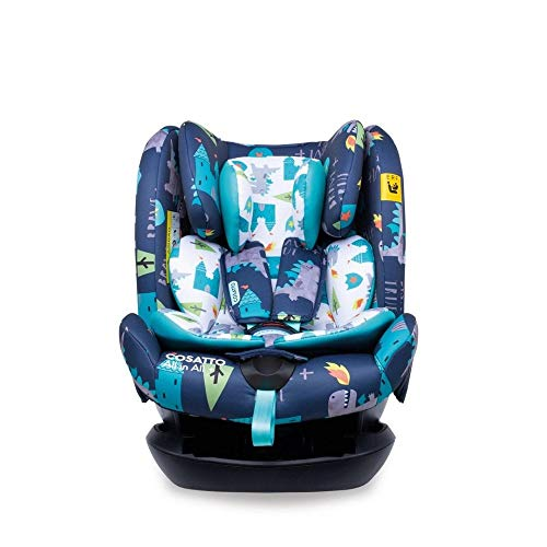 Cosatto All in All + Baby to Child Car Seat - Group 0+123, 0-36 kg, 0-12 years, ISOFIX, Extended Rear Facing, Anti-Escape, Reclines (Dragon Kingdom)