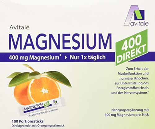 Avitale Magnesium 400 direkt Orange - Direktgranulat zur Einnahme ohne Wasser, 210 g