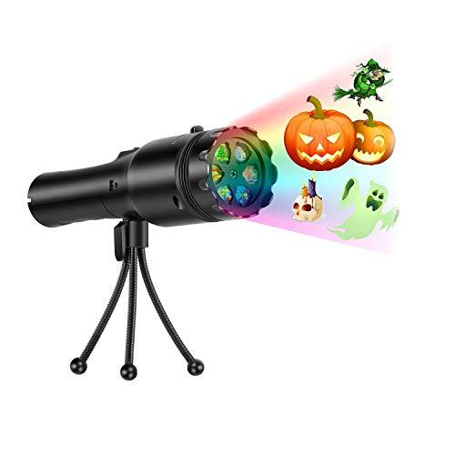 WANGWEN Proyector De Halloween Luces De Mano Nuevo, 12 Diapositivas Luces De Proyección De Vacaciones