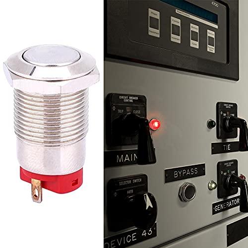 Empuje el interruptor de 12 mm 250V 500,000 veces 2 pines para equipos industriales para medición industrial(short hair, pink)