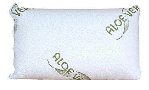 1x kleines Aloe Vera Schlafkissen/Nackenstützkissen - 40x24x10cm aus viskoelastischem Gelschaum