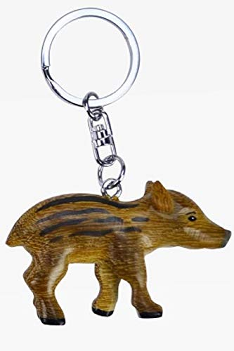 Frischling Wildschwein * Schlüsselanhänger aus Holz