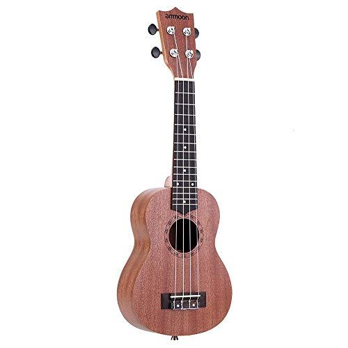 Ukulélé acoustique 53,3 cm Sapele 15 frettes 4 cordes instrument de musique