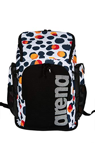 Arena Team Backpack 45 Allover, Zaino Nuoto da 45 Litri Unisex Adulto, Multicolore (Polka Dots), Taglia Unica