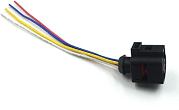 Mathenia Car Parts, for VW Passat B5 B7 CC Touran Tiguan Golf Skoda Water Temperature Sensor Plug Connector 4 Pins Wiring Harness 4B0 973 712