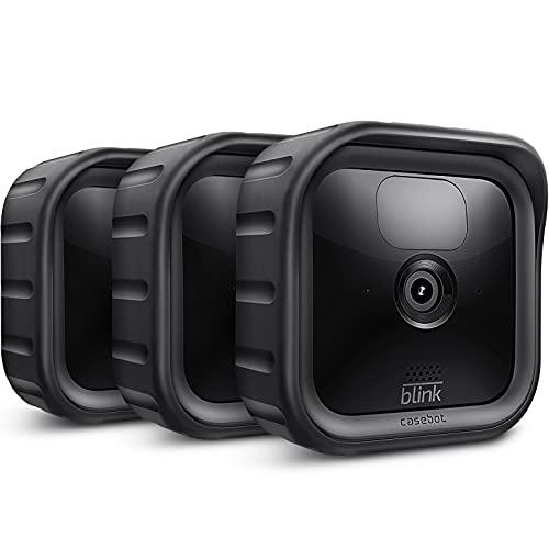 HülleBot Silikon Hülle für Blink Outdoor Indoor Kamera - (3er Set) weiche Leichte Dünne Kratzfeste Silikon Abdeckungen Skins Schutzhülle für Die Neue Blink Sicherheitskamera 2020, Schwarz